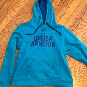 Turquoise and royal UA hoodie sweatshirt